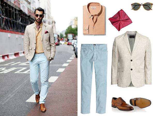Hugo Boss туфли, H&M очки, брюки, блейзер, Baltman платок, Mango рубашка
