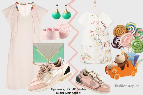 Платье, Chloe; серьги, New Vintage by Kriss; клатч, Dareen Hakim; детское платье, Zara
