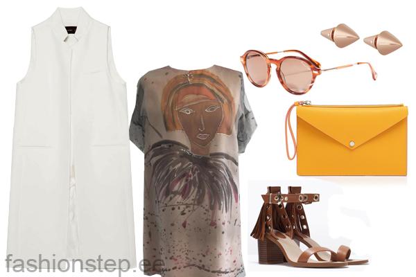 Выбор FashionSTEP: платье, Natali Õnnis; босоножки, Zara; клатч, Marc by Marc Jacobs солнцезащитные очки, Massimo Dutti; серьги, Eddie Borgo