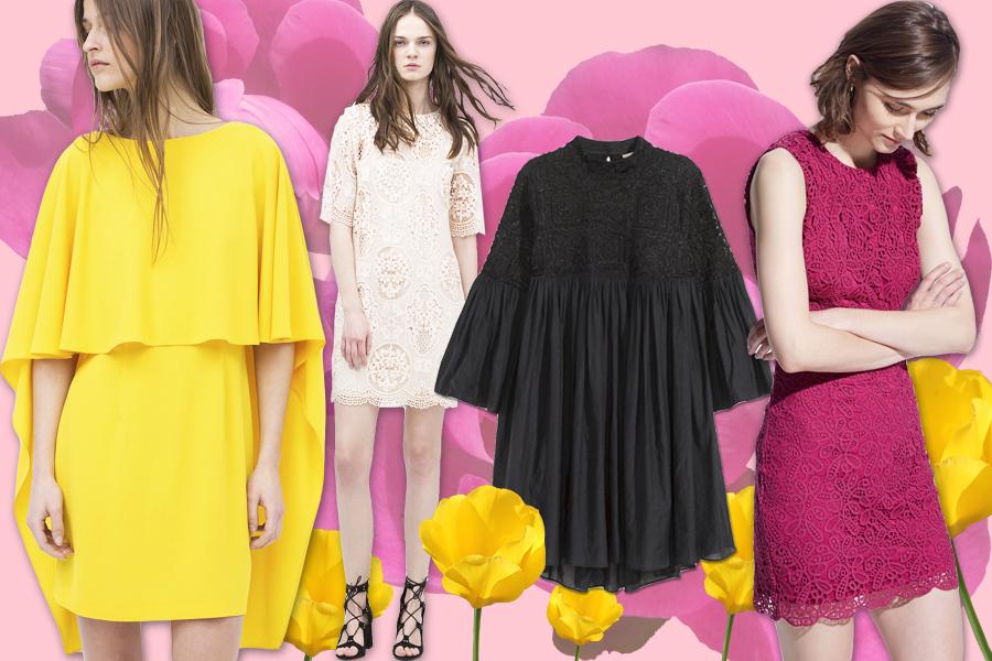 Справа налево: Zara, Zara, H&M, Mango