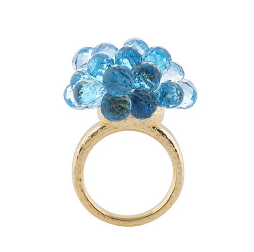 Biiju Explosion золотое кольцо с топазами