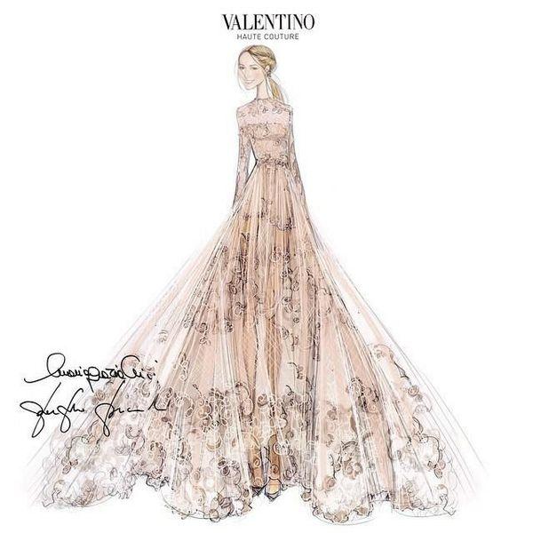 Frida Giannini wedding dress Valentino