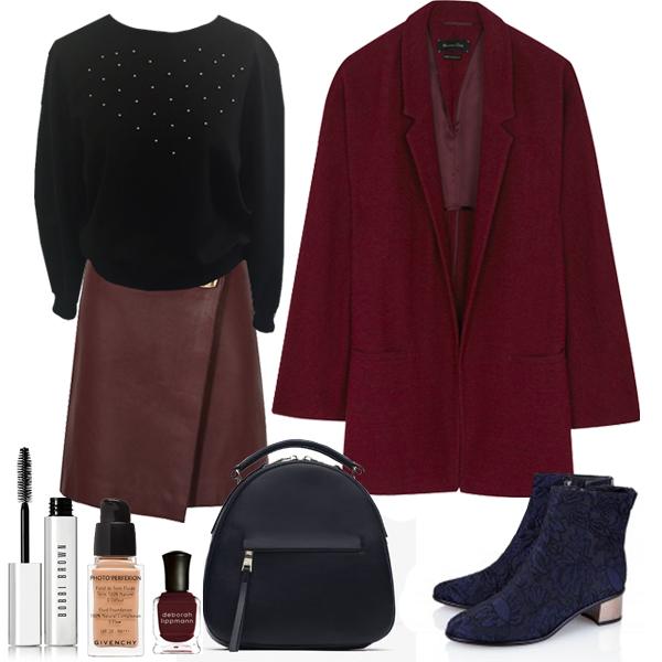 Выбор FashionSTEP: свитшот, Natali Õnnis; юбка, Reiss (johnlewis.com); пальто, MassimoDutti; ботильоны, Tibu
