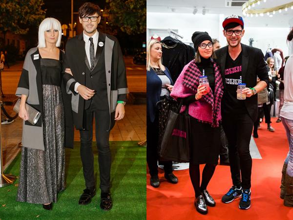 Слева направо: День Рождения Kanal 2 (фото Erlend Staub, Elu24). Total-look CUBE Светланы, Анатолий в пальто CUBE TFW pre-party  (фото Meisi Volt, Elu24)