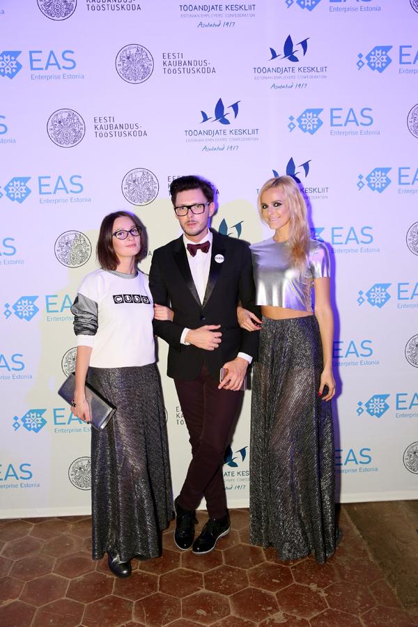 на церемонии награждения премии самых успешных предпринимателей годаилона и светлана outfit by cube