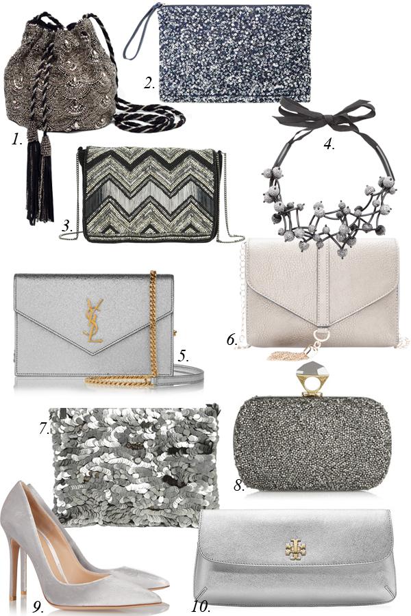 серебрянные сумки
