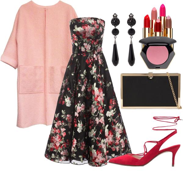 с чем носить розовое пальто 2