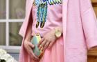 Одна вещь – 3 образа: розовое пальто CUBE