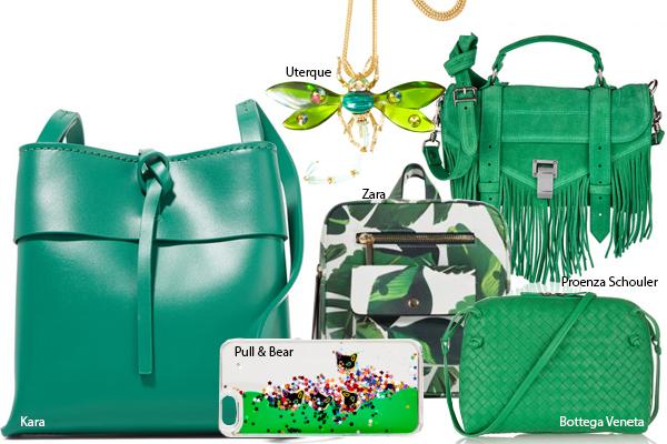 зеленые сумки