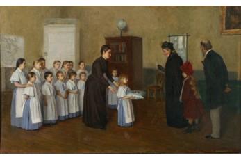 Пётр Геллер. Представление воспитанниц патронессе. 1892. Нарвский музей