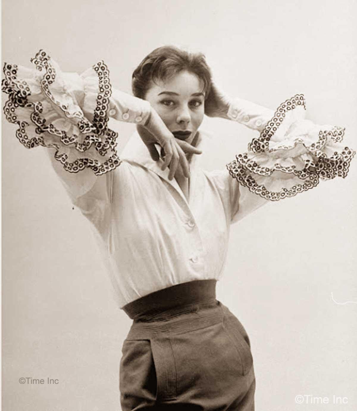 Givenchy-NR-Farbman-Model-Bettina-Life-Magazine-1952