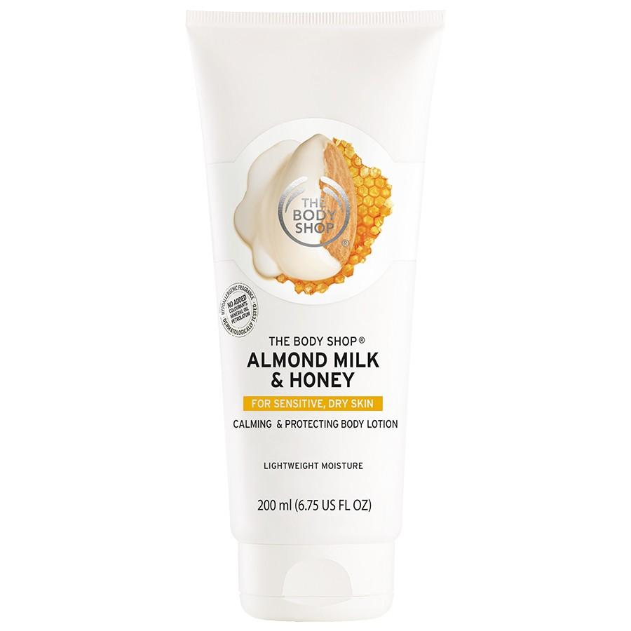 The Body Shop, Смягчающее и восстанавливающее молочко для тела «Миндальное молочко и мед»