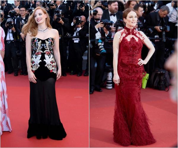 Джессика Честейн в Alexander McQueen, Джулианна Мур в Givenchy Couture и украшениях Chopard