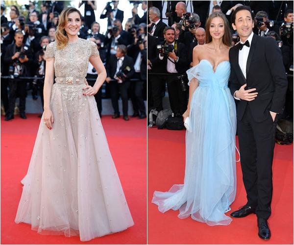 Клотильда Куро в Elie Saab Couture, Лара Лието в Ermanno Scervino и Эдриан Броуди