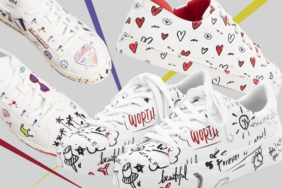 разрисованные кроссовки
