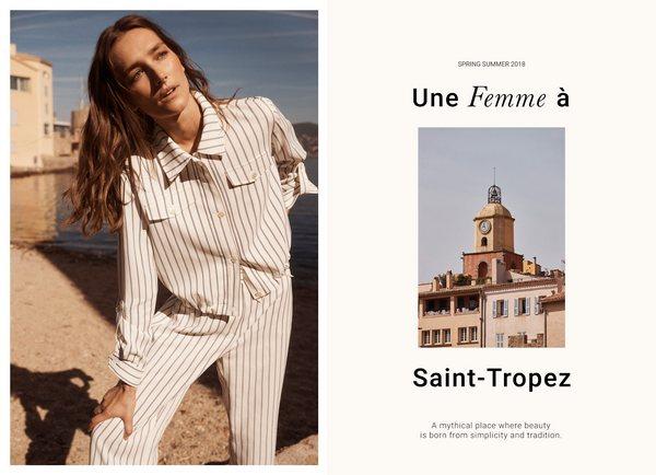 Massimo Dutti Une Femme __ Saint-Tropez 1