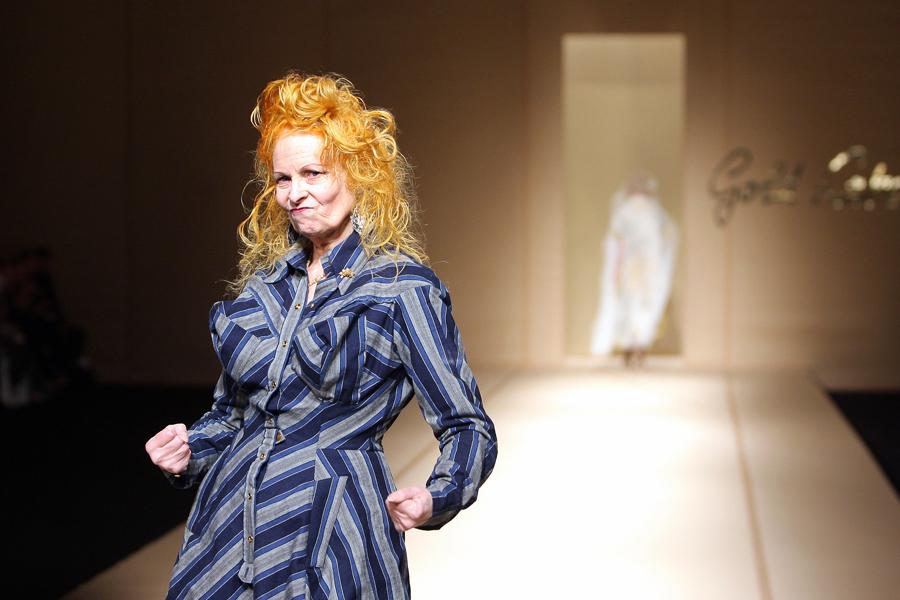 British designer Vivienne Westwood ackno