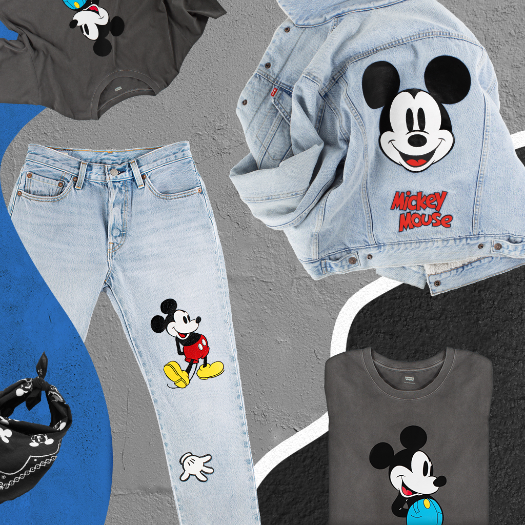 H2 2018 Levi's x Disney Mickey Mouse Imagery Laydowns AKQA