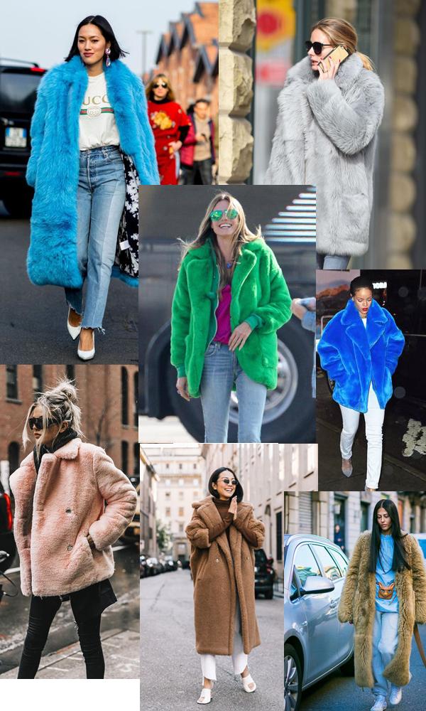 как знаменитости носят цветной мех