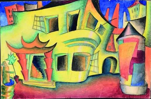Пеэт Арен. Проект декорации к пьесе Августа Стриндберга «Соната призраков». 1923. Художественный музей Эстонии