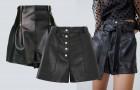 Альтернатива мини: кожаные шорты
