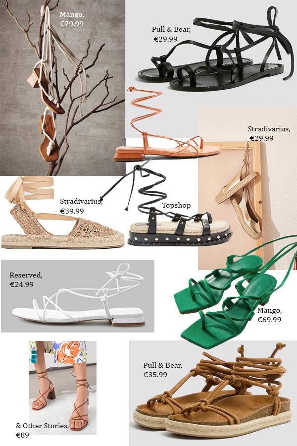 модные сандалии в гладиаторском стиле 2020
