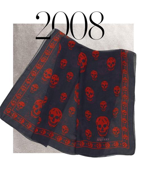 2008 Alexander McQueen's skull scarf