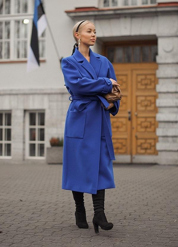 Елена Климашевская в пальто Natali Õnnis